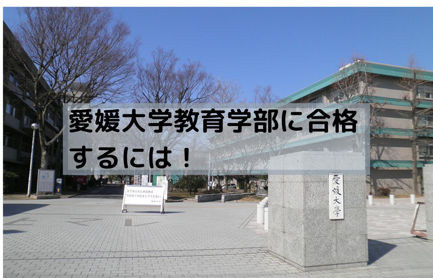 愛媛大学教育学部に合格するための戦略や計画を紹介