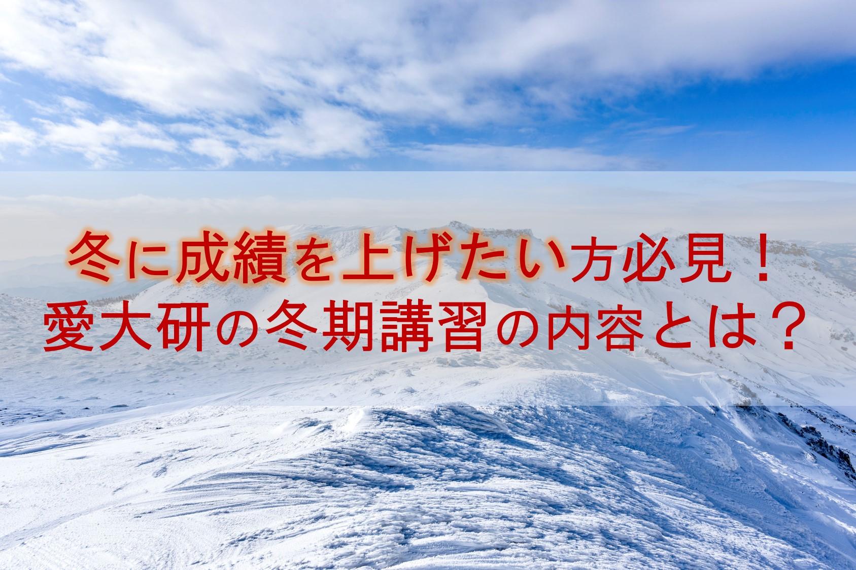 愛大研 冬期講習